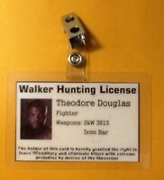 The Walking Dead ID Badge-Walker Hunting License Theodore Douglas