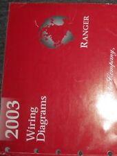 2003 FORD RANGER Electrical Wiring Diagrams Service Shop Repair Manual EWD 03