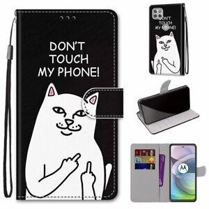 For Motorola Moto E7 G8 Power G9 G 5G Flip Magnetic Leather Wallet Case Cover