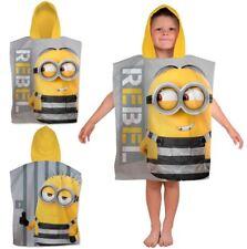 Kids Despicable Me Minions Hooded Sun Protect Poncho Towel Boys Beach Bath Towel