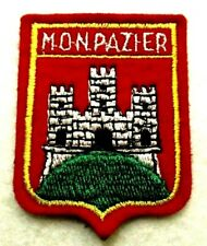 ECUSSON MONPAZIER ♦ FRENCH CITY BADGE ♦