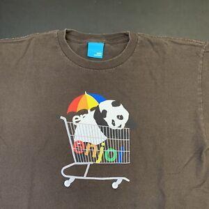 Vintage Enjoi Skateboards Shirt M Graphic Panda Logo Skate Art Streetwear Brown