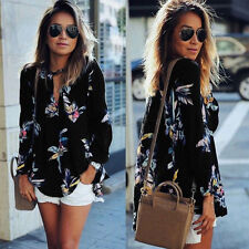 Unbranded Chiffon Long Sleeve Floral T-Shirts for Women