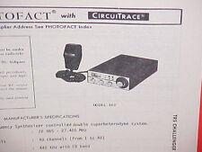 1979 TRS CHALLENGER CB RADIO SERVICE SHOP MANUAL MODEL 460