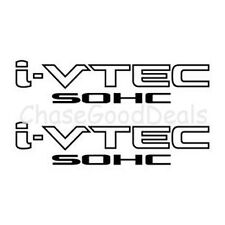 BLACK I-VTEC SOHC STICKER X2 DECAL EMBLEM CIVIC S2000 ACCORD JDM IMPORT ILLEST