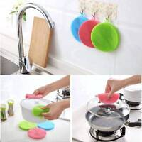 Silicone Dish Washing Brush Bowl Pot Pan Wash Cleaning Brushes Cleaner Sponges