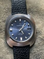 Vintage Eterna-matic Fast Beat 36,000 Gents SS Watch