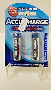 !! NEU & OVP !! 2 Akku Batterien Accu Charge AA/R6, 1,2 Volt, Ni-MH, vorgeladen