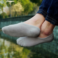 6-12 Pack Men/Women Bamboo Socks Lot Invisible Nonslip Loafer Boat No Show Solid