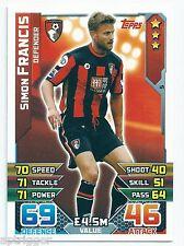 2015 / 2016 EPL Match Attax Base Card (5) Simon FRANCIS AFC Bournemouth