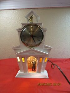 Vintage MasterCrafters Church Lighted Mechanical Motion Clock Model No. 560