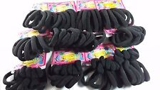 144 pcs Hair Ties Pony Tail Holders Color Black.