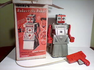 """Vintage IDEAL'S Robert the Robot 1950""""s #4049 , box, Toy"""