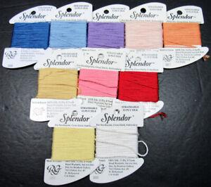 10x Needlepoint/Embroidery THREAD RAINBOW GALLERY Splendor 12ply silk-NJ22