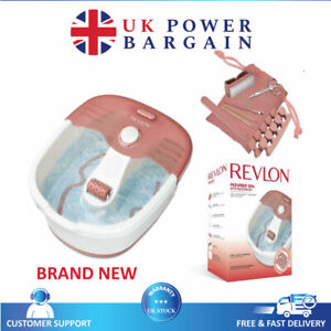 Brand New Revlon Foot Spa with Pedicure Set Bath Relaxing Massage Pedi prep 7021