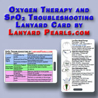 Oxygen Delivery & Pulse Oximeter Troubleshooting Lanyard Card | Nursing Student