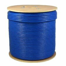 1000ft CAT6A S/FTP In-Wall (UL LISTED) 100% COPPER Solid Wire 23AWG 550Mhz Fluke