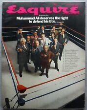 ESQUIRE Magazine November 1969 Muhammad Ali Deserves to Defend His Title VG