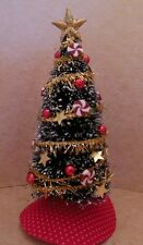Dollhouse miniatures handcrafted Pepermint Christmas tree w/swirled pepermints