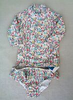 BNWT NEXT Baby Girls Floral UPF 50+ Sunsafe UV Sun Protection Swimsuit 3-6months