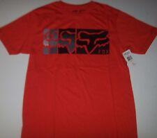 New Fox Riders Racing red orange HAZED short sleeve t shirt sz SMALL S