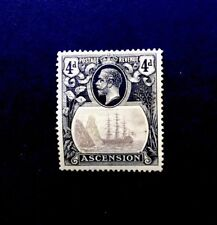 Ascension SG15 Grey-black&Black/yellow 4d mounted mint 1924 KGV