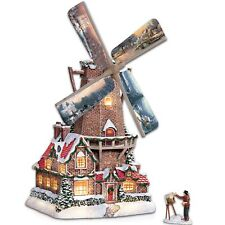 Bradford Exchange Thomas Kinkade Olde Mill at Christmas Windmill Retired  FS USA