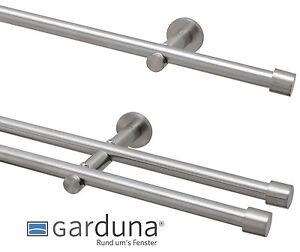 Gardinenstange 16 mm, mit Endkappe aus Metall, Edelstahl Design