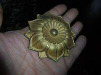 Tête d'embrasse à Rideau Bronze Fleur Idée Décoration Cadre Miroir Boite Coffre