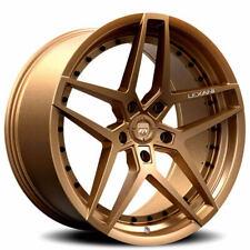 "(4) 20"" Staggered Lexani Wheels Spike Satin Bronze Rims(B45)"