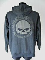 Harley Davidson Skull Totenkopf Kapuzenpulli Pulli Hoodie Shirt 99107-18VM