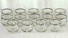 Dorothy Thorpe Silver Rim 4 oz Roly Poly Glasses - Set of 14