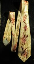 Vintage Penney'S Towncraft Tie - Soft Golden Rayon Necktie Cravat Free Shipping