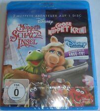 Muppets Die Schatzinsel / Der Große Muppet Krimi  Neu OVP   Blu Ray