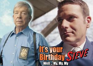 Homicide Hunter Lt. Joe Kenda fun Happy Birthday PERSONALISED Greeting Art Card