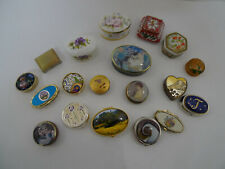 Collection of Decorative Trinket/Pill Boxes (BW)