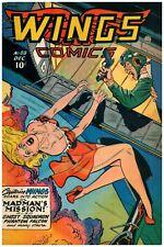 Wings Comics #88 Golden Age Fiction House 4.0