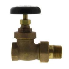 "1/2"" Brass Steam Radiator Straight Gate Valve Plumbing Heating Fitting"