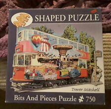 HEADING TO THE FAIR TREVOR MITCHELL 750 PIECE SHAPED TRAM BITS & PIECES JIGSAW