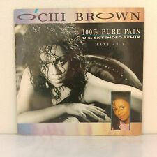 "O'Chi Brown ‎– 100% Pure Pain (U.S. Extended Remix) (Vinyl 12"" Maxi 33 Tours)"