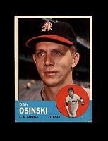 1963 Topps Baseball #114 Dan Osinski RC (Angels) NM