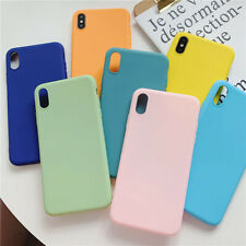 Pure Color Silicone Soft Phone Case Cover For iPhone XsMax X XR Xs 6s 7 8 Plus