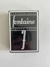 Black Fontaine Playing Cards by Zach Mueller SEALED Rare