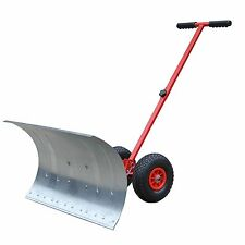 New Heavy Duty Rolling Snow Shovel Snow Plow Snowplough Rotatable Steel Blade