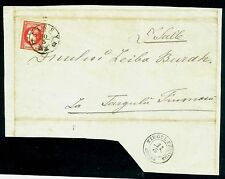 1868 Prince Carol I,whiskers,Romania,Mi.20,18 BANI,on part/cover,TARGU FRUMOS