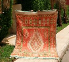 Vintage Authentic Boujaad Berber Handmade /Moroccan rug-Teppich 8'2''/5'7''