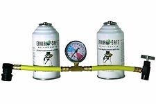 Enviro-Safe 2 R134a Replacement Cans with Dye Kit with R134 Tap Gauge