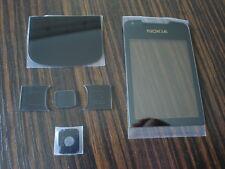 nokia 8800 arte black front screen glass bottom glass set  6 piece set