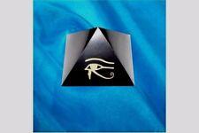 """Schungit Pyramide """"DAS AUGE DES HORUS"""" 5x5cm,ca.90g, poliert, mit Zertifikat!"""