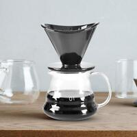 Ceramic Pour Over Drop Dripper Reusable Coffee Filter With Cup Stand Conical